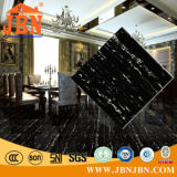 Плитка пола полного тела однотиповая черная мраморный (JM6614)