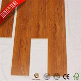 Plancher conique de stratifié de cuir en bois de hêtre de cannelure de V pour la salle de bains