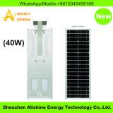 lâmpada solar leve ao ar livre solar Integrated do diodo emissor de luz da luz de rua 40W com de controle remoto