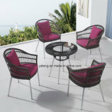Design popular de alumínio PE-Rattan Outdoor Garden Garden Coffee Set (YT940)