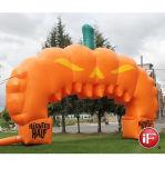 Entrata gonfiabile gigante dell'arco della zucca di Halloween da vendere