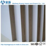 Núcleo de madera de melamina de grano de madera para muebles de madera contrachapada/armario