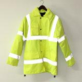 Lucifer Yellow Lime Jaqueta PU / Raincoat / Reflexivo / Vestuário de segurança para adulto