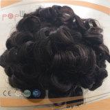 Los encajes de Mono Cabello Humano PU peluca personalizado (PPG-L-0910)