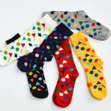 Uomini felici dei calzini del cotone di alta qualità