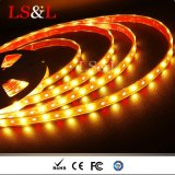 5050 RGB+ámbar DC12V/DC24V de la cuerda de la luz de las tiras de LED con CE y RoHS