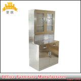 Hospital da porta de vidro em aço inoxidável Armário Armário para armazenamento de Medicina de Metal