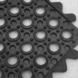 Drainage-gaten, volledig Klantgerichte Mat van de Vloer van de anti-Moeheid de Rubber,