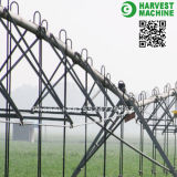 農業の用水系統の中心のピボット