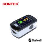 Bluetoothのセリウム、再充電可能なFDAの証明書Telemedicineのカラーディスプレイが付いている無線パルスの酸化濃度計
