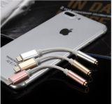 Los cables del convertidor para dispositivos ios de la interfaz de audio Conector de auriculares