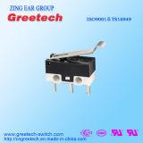 Azione a schiocco micro serie elettrica dell'interruttore con il breve rullo della leva