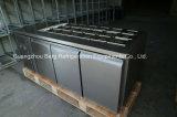 Refrigerador de Undercounter comercial de 3 portas com aço inoxidável com Ce