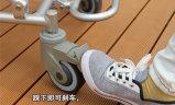 Silla de ducha Topmedi equipamientos médicos de aluminio plegable
