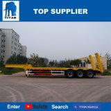 Titan excavateur d'équipement lourd transporteur militaire rampe hydraulique de remorque Lowbed Lowboy à chargement frontal