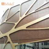 Изумрудным панель выгравированная цветом алюминиевая Perforated для торгового центра