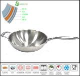 Cuerpo de 5 pliegues utensilios de cocina tradicional China Wok Wok