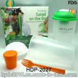 Kop de van uitstekende kwaliteit van de Schudbeker van de Salade met het Kleden van Container (hdp-2027)