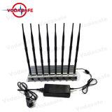 O GSM/CDMA/3G/4G telefone celular Jammer, bandas de 8 a 3G/4glte Cellphone, GPS, Lojack, Controle Remoto Jammer/Blocker tudo em um bloqueador do socador