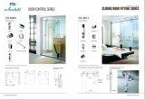 Porta de vidro deslizante dupla de aço inoxidável B001 para banheiro