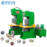 セリウムCertificate 70t Hydraulic Natural Face Cobble Stone Splitting Machine