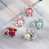 형식 보석 형식 반지 진주와 다이아몬드 반지 모조 보석 열려있는 반지 10 색깔 Brige 반지