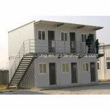 Prefabricated 콘테이너 집 두 배 지면