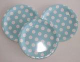 Многоточия польки популярного качества голубые напечатали благосклонность партии бумажной плиты