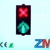 Fr12368 LED témoin de l'allée Lane Red Cross Flèche verte