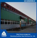 Marco de la estructura de acero con el material de construcción de acero ligero para el taller