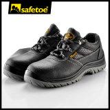 Cómoda antiabrasión Oxford malla de petróleo y ácido Zapatos de seguridad resistente
