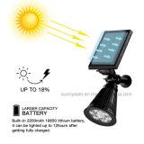 Foco de Energía Solar Iluminación exterior de la luz solar 2-en-1 de 6 LED ajustable del sensor de movimiento Solar lámpara de jardín de césped de paisaje