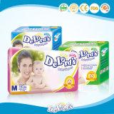 高品質の極度の柔らかく使い捨て可能な綿の赤ん坊のおむつ