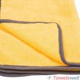 Auto toalha de detalhe de Microfiber com bordas unidas pano