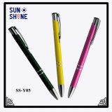 Crayon lecteur de bille en aluminium de cliquetis de vente chaude promotionnelle de produits