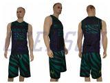 100% بوليستر عالة تصعيد طباعة عكوس ملابس رياضيّة كرة سلّة بدلة