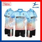 Camisa del bádminton de los hombres menores de la sublimación de Sportsweat de la fabricación de Healong China