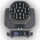 19pcsx15W RGBW farbenreiches LED Zoomable grosses Bienen-Augen-Stadiums-Licht mit Umdrehungs-Objektiv