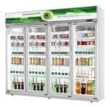 Visor de bebidas comerciais frigorífico para a loja de conveniência