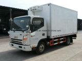 JAC 6 de Vrachtwagen van de Koude Opslag van Wielen 5 Ton ontmoet Diepvriezer en de Vrachtwagen van het Vervoer