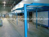 A linha de produção de pintura a pó