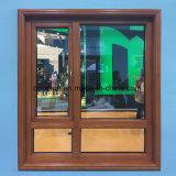 Bois de chêne rouge avec revêtement en aluminium fenêtre Outswing extérieur