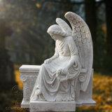 Великолепное качество белого гранита статуя красивых монумент Ангела, также может быть сделан из мрамора скульптура ангела