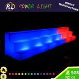 Iluminado Evento Muebles cambio de color de plástico LED Estante del vino