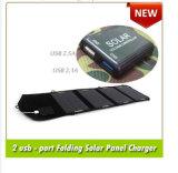 Carregador solar de porta dupla USB de 14W para celular