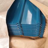 Feuille en acier galvanisée ridée plate Z80 de toiture de tôle de Gi