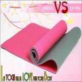 De antislip en Milieuvriendelijke Dubbele Mat van de Yoga van de Kleur TPE van Lagen