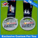 3D図Taekwondoメダル骨董品の銀の終了する記念品メダル