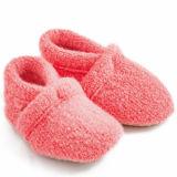 Rosafarbene Eco gestrickte weicher Komfort-kundenspezifische Babyschuhe für 0 - 2 Jahre