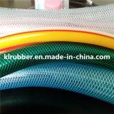 Manguito de jardín hidráulico flexible del PVC con el refuerzo de fibra